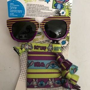 Other - Stitch sunglasses and hair ties